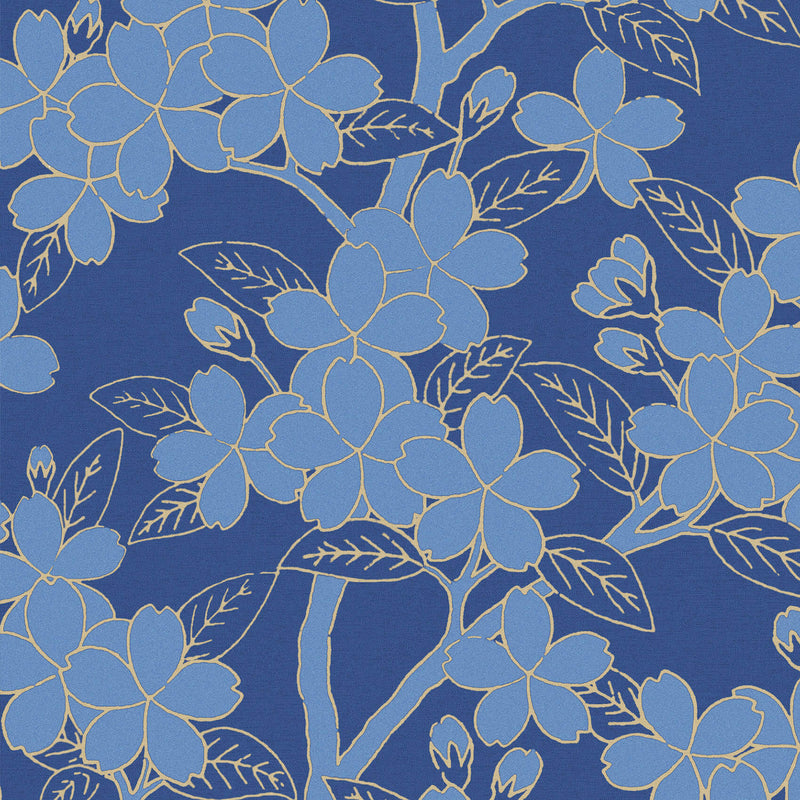 Little Greene - 20th Century Papers - Camellia - Smalt