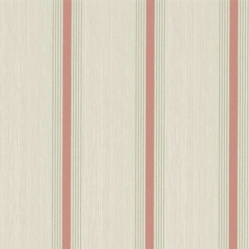 Little Greene - Painted Papers - Cavendish Stripe - Brush Red
