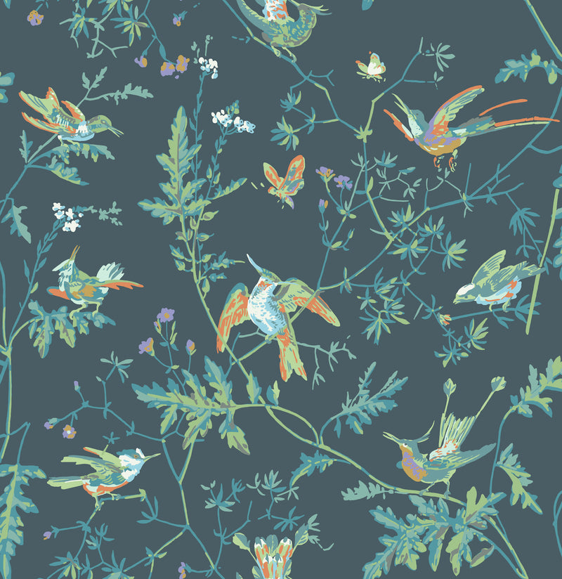 Cole & Son - Icons - Hummingbirds 112/4014 Viridian