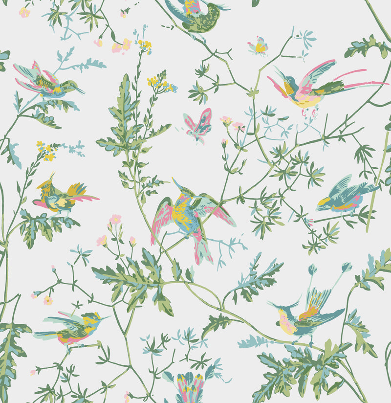 Cole & Son - Icons - Hummingbirds 112/4015 Green & Pink