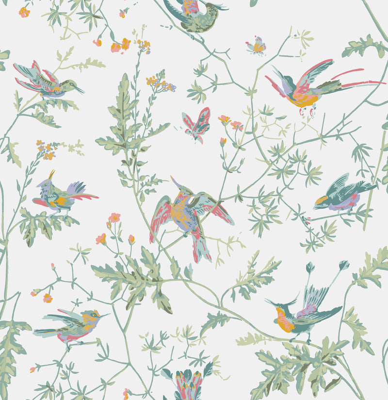 Cole & Son - Icons - Hummingbirds 112/4016 Pastel