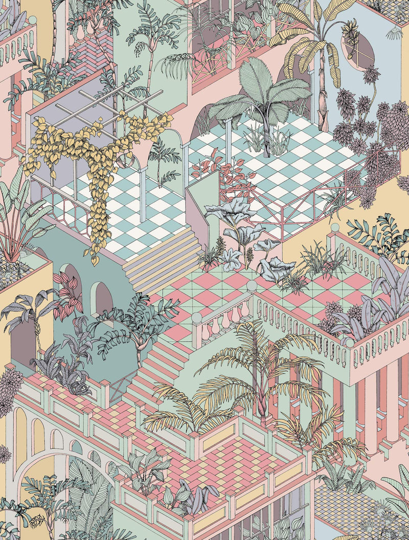 Cole & Son - Icons - Miami 112/6023 Pastel