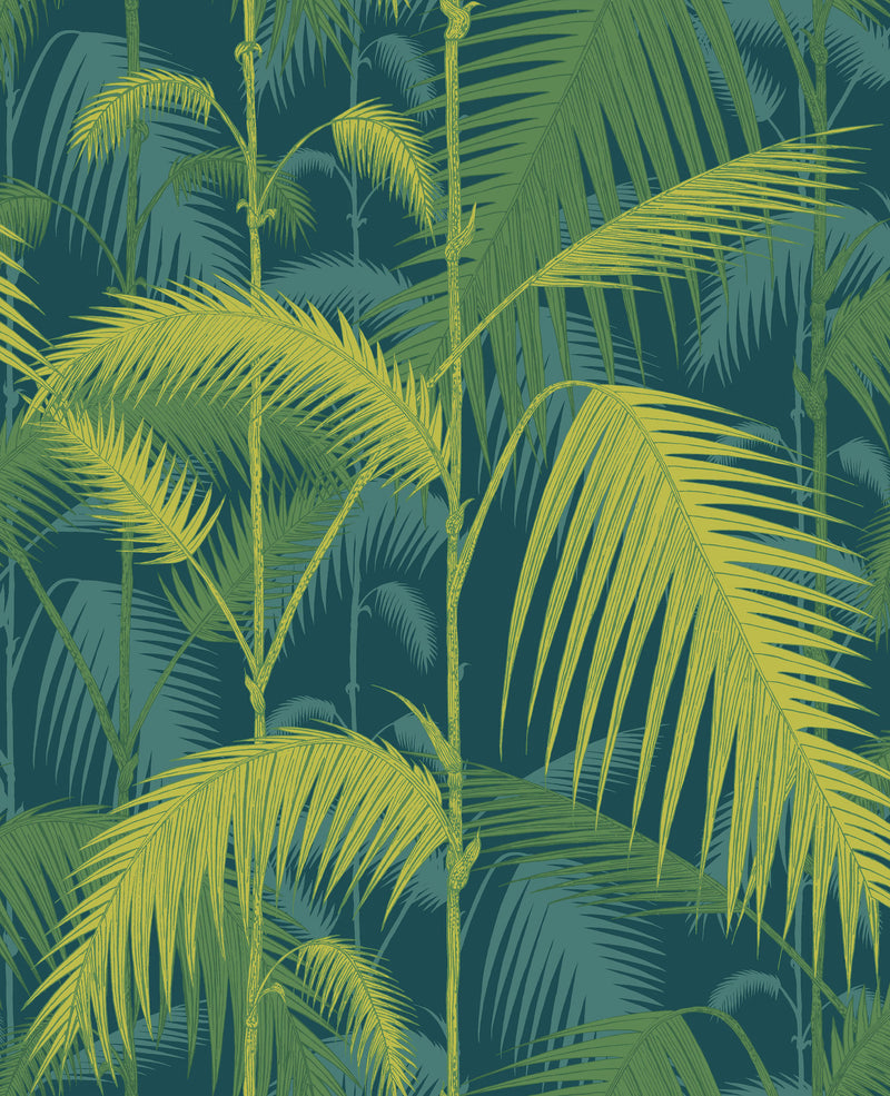 Cole & Son - Icons - Palm Jungle 112/1002	Petrol & Lime