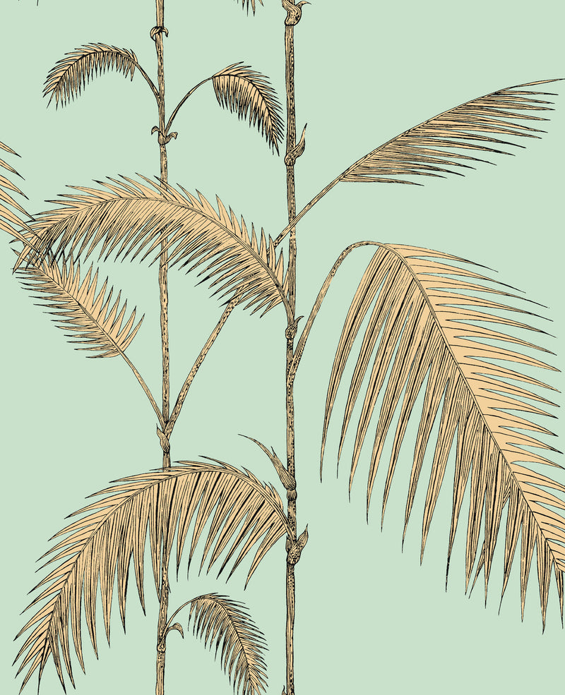 Cole & Son - Icons - Palm Leaves 112/2006	Mint & Sand