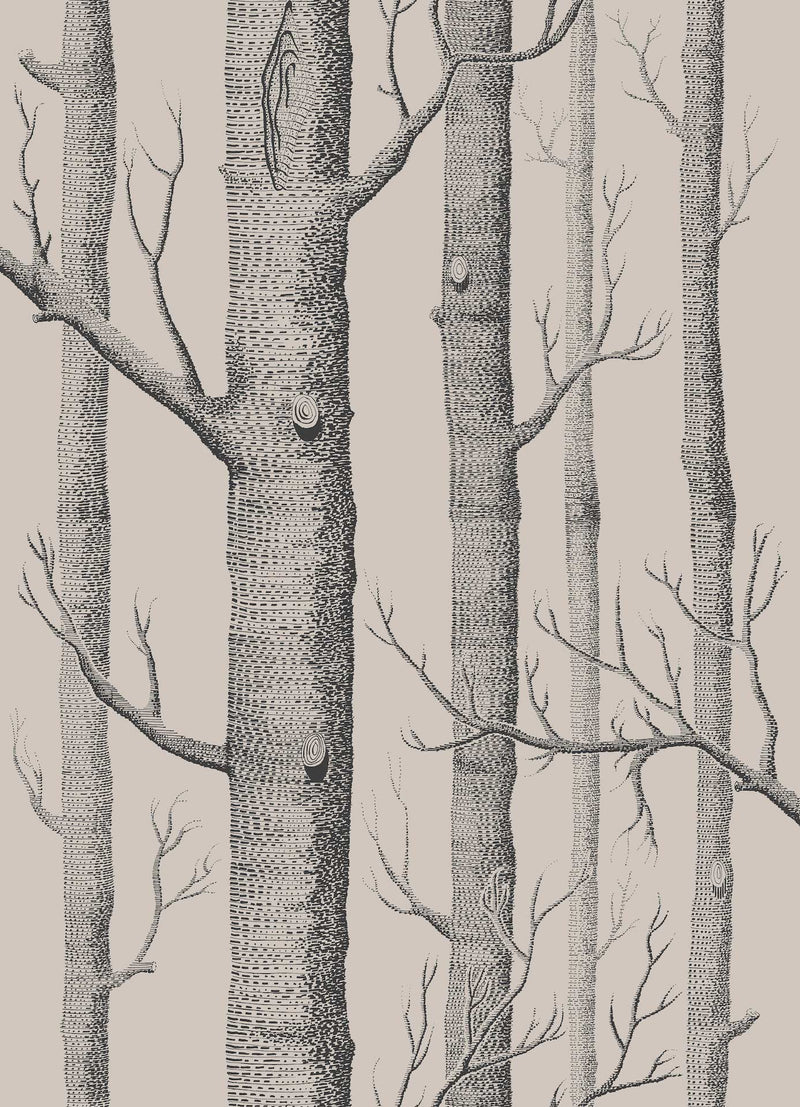 Cole & Son - Icons - Woods 112/3009 Linen & Charcoal