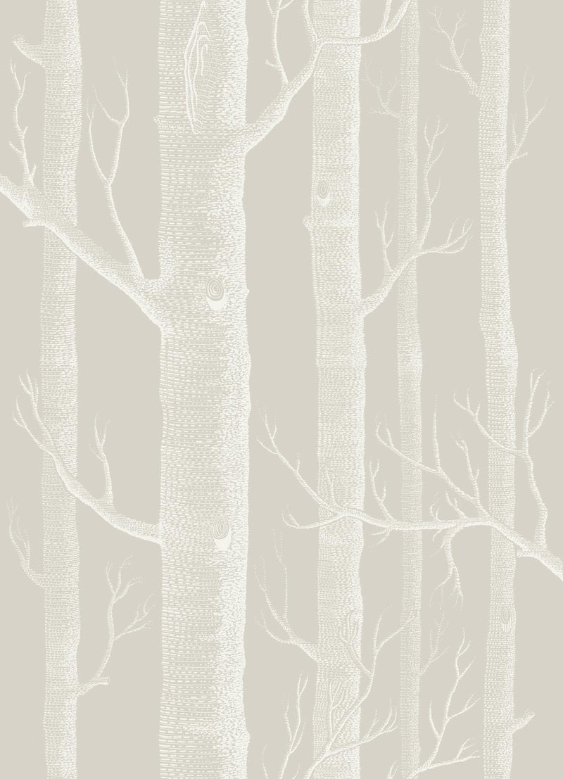Cole & Son - Icons - Woods 112/3010 Stone & White