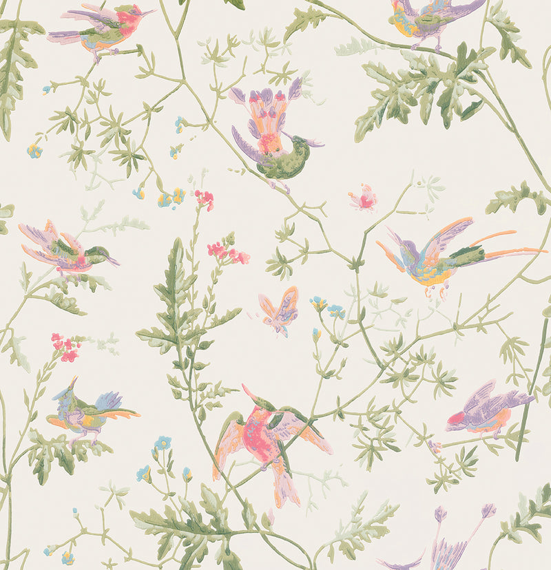 Cole & Son - Archive Anthology - Hummingbirds 100/14067 soft multi-colour