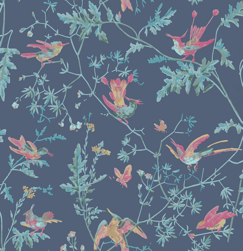 Cole & Son - Archive Anthology - Hummingbirds 100/14068 indigo multi-colour