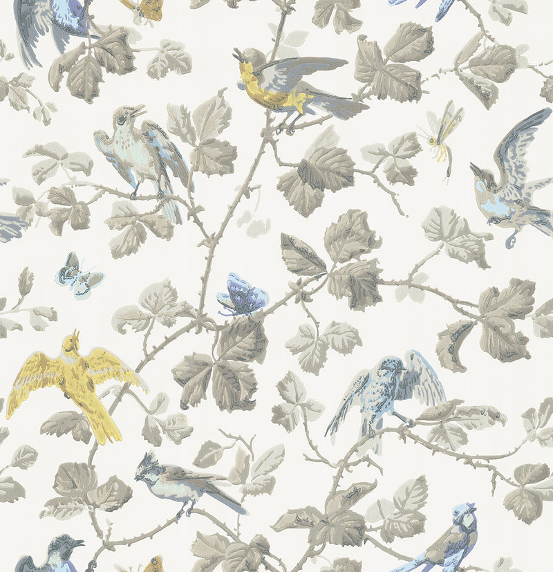 Cole & Son - Archive Anthology - Winter Birds 100/2008 yellow & grey