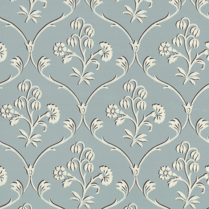 Little Greene - London Wallpapers IV - Cranford - Sky Blue