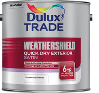 Dulux Trade Weathershield Quick Drying Exterior Satin Pure Brilliant White