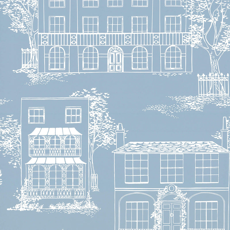 Little Greene - 20th Century Papers - Hampstead James Blue