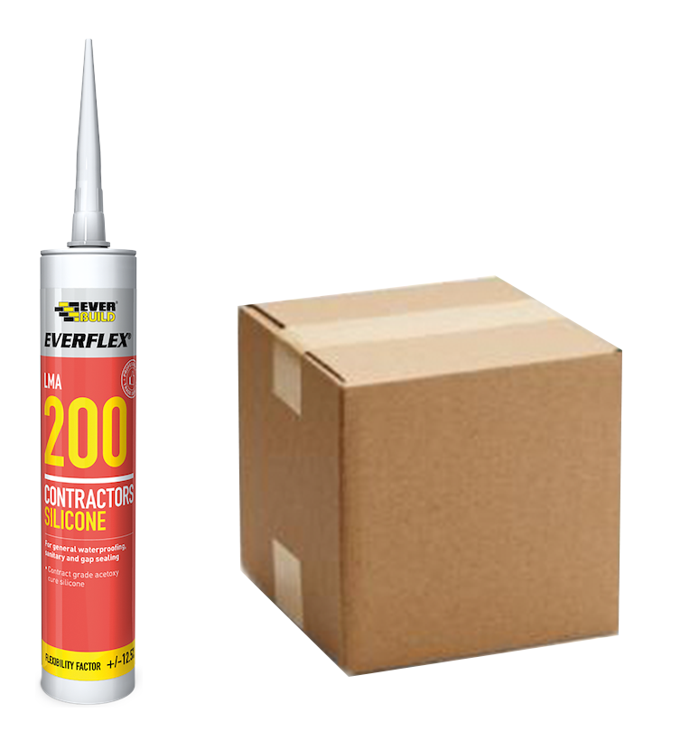 Everbuild Everflex LMA 200 Contractors Silicone (Box of 25)