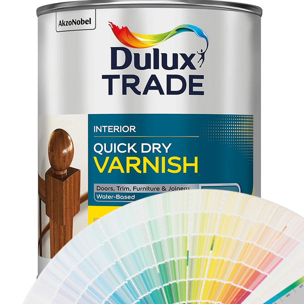 DULUX TRADE QUICK DRYING VARNISH Satin (Woodcare Colours)