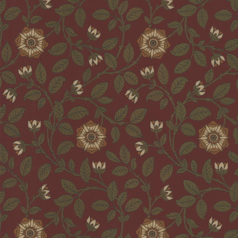 Little Greene - London Wallpapers IV - Richmond Green - Revival Red