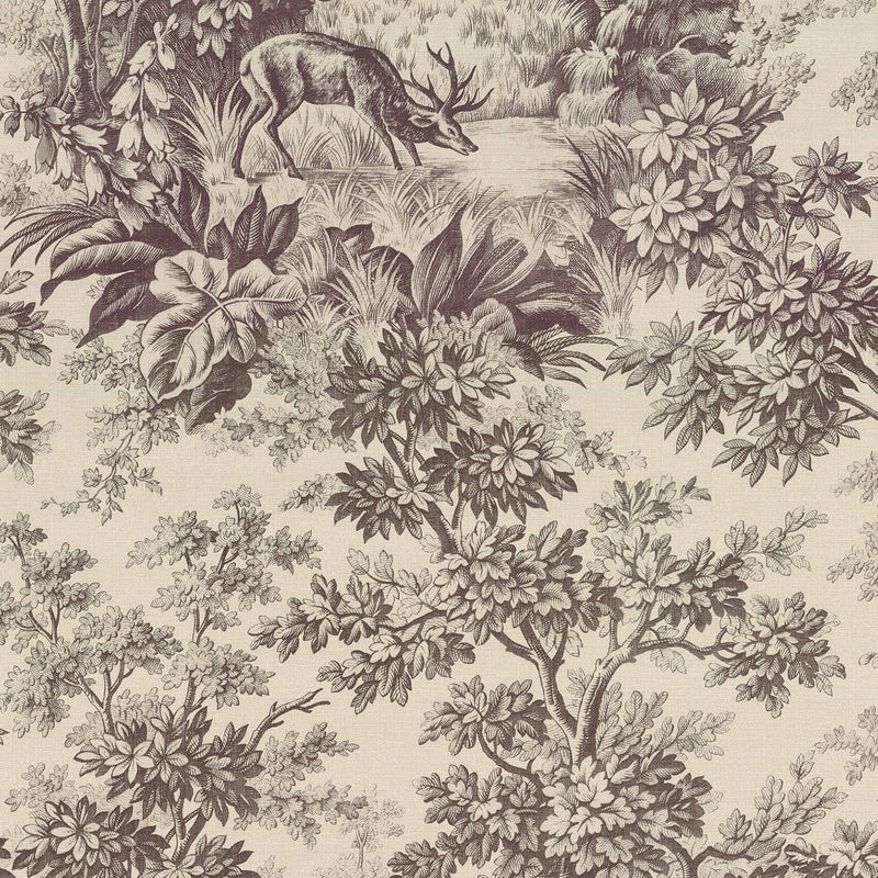 Little Greene - Revolution Papers - Stag Toile - Chocolat