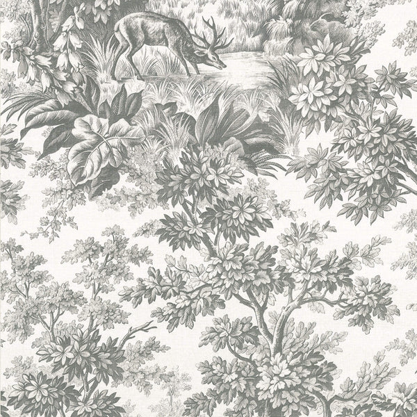 Little Greene - Revolution Papers - Stag Toile - Moss