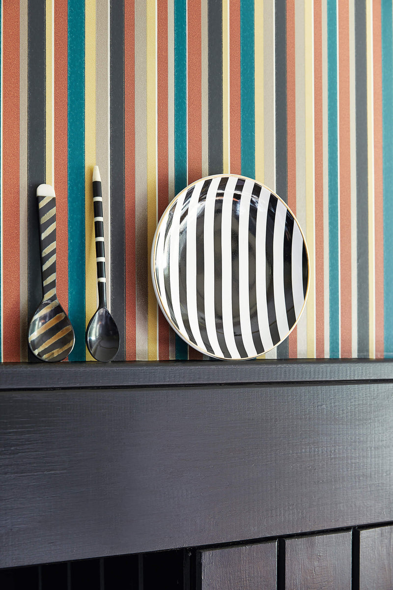 Little Greene - Painted Papers - Tailor Stripe - Bakerloo