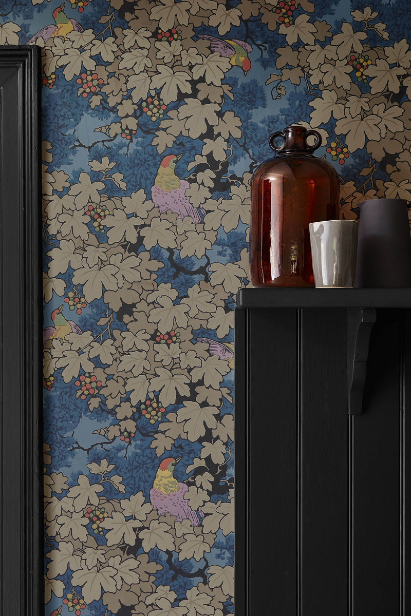 Little Greene - Archive Trails - Vine - Blue