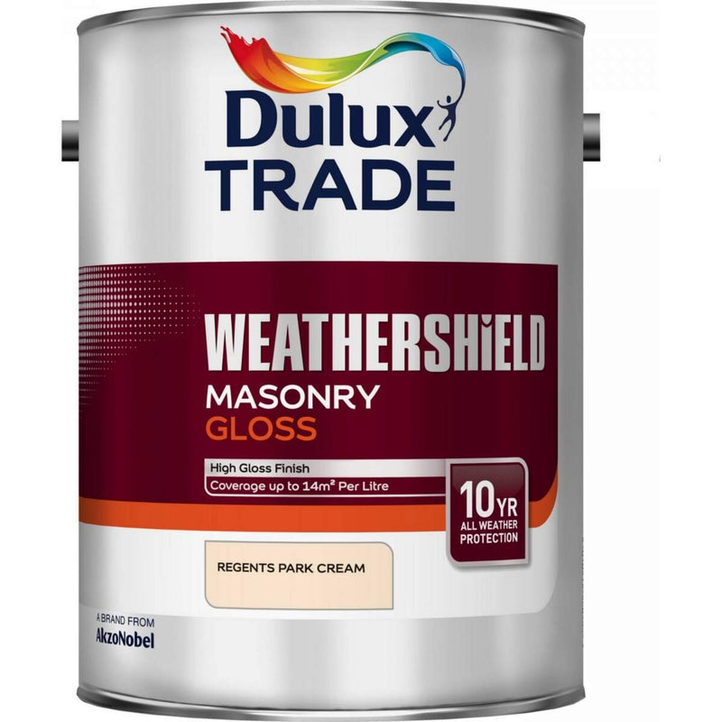 Dulux Trade Weathershield Masonry Gloss Regents Park Cream 5L