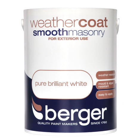 Berger Weathercoat Brilliant White/Magnolia Smooth Exterior Paint