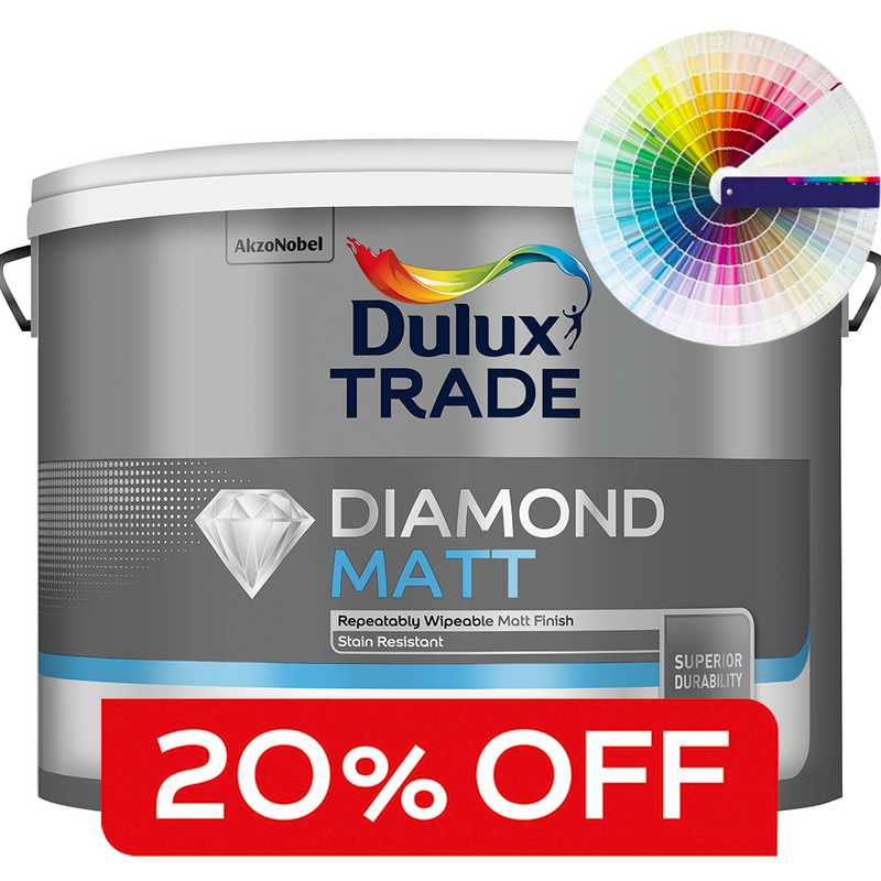 Dulux Trade Diamond Matt 10L (Tinted Colours)