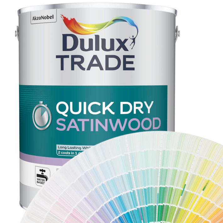 Dulux Trade Quick Drying Satinwood 1L/2.5L/5L (Tinted Colours)