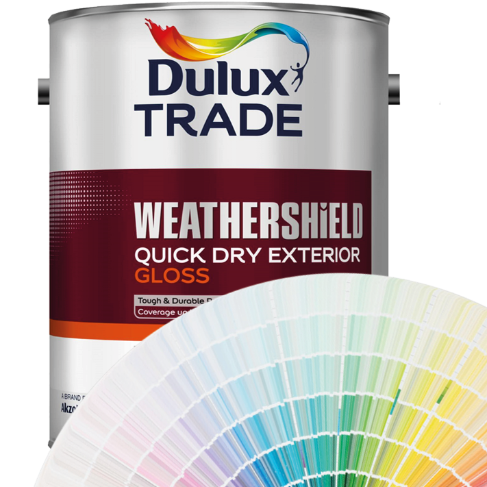 Dulux Trade Weathershield Quick Drying Exterior Gloss 1L/2.5L/5L (Tinted Colours)