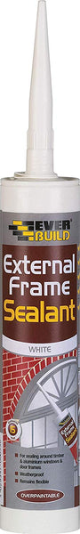 Everbuild EXTWH 310ml External Frame Acrylic Sealant (White & Brown)