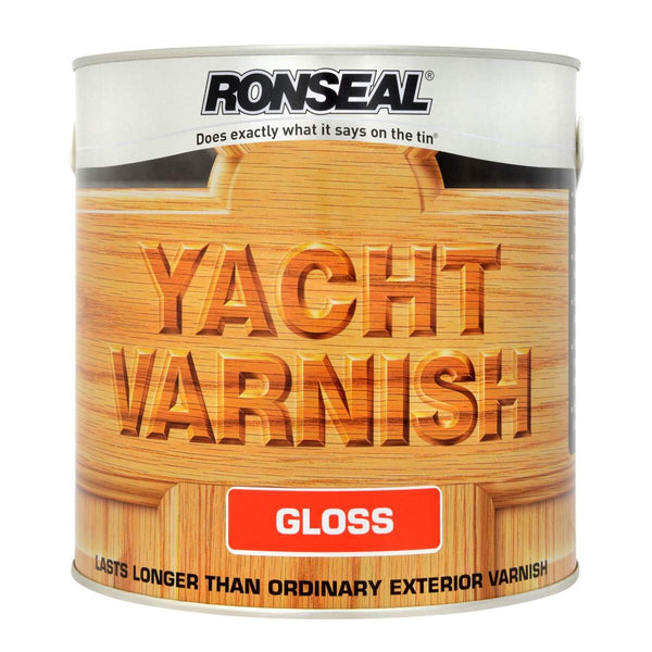 Ronseal Exterior Yacht Varnish Gloss (All Sizes)