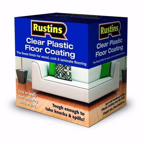 RUSTINS CLEAR PLASTIC FLOOR COATING TRADE PACK GLOSS 4 LITRE
