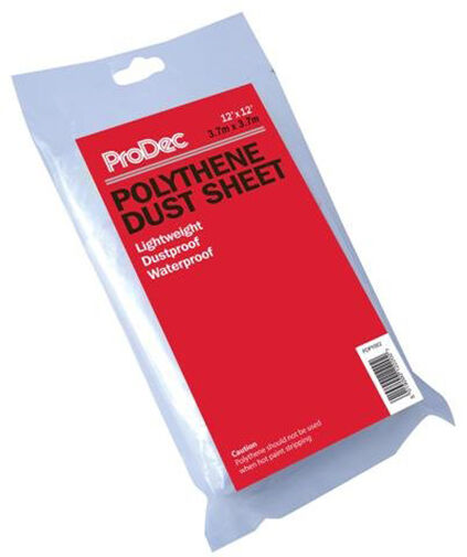 12 x 12 Prodec Polythene Dust Sheet