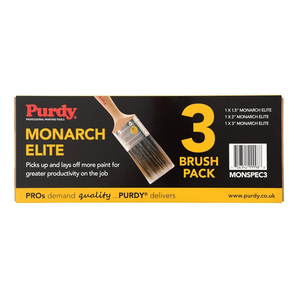 "Purdy Monarch Elite Brush Set - 3 Brushes (1x1.5"" 1x2 1x3"")"