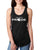Live With PRIDE- Ladies' Black Ideal Racerback Tank