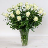 Two Dozen Long-Stemmed Roses In Vase