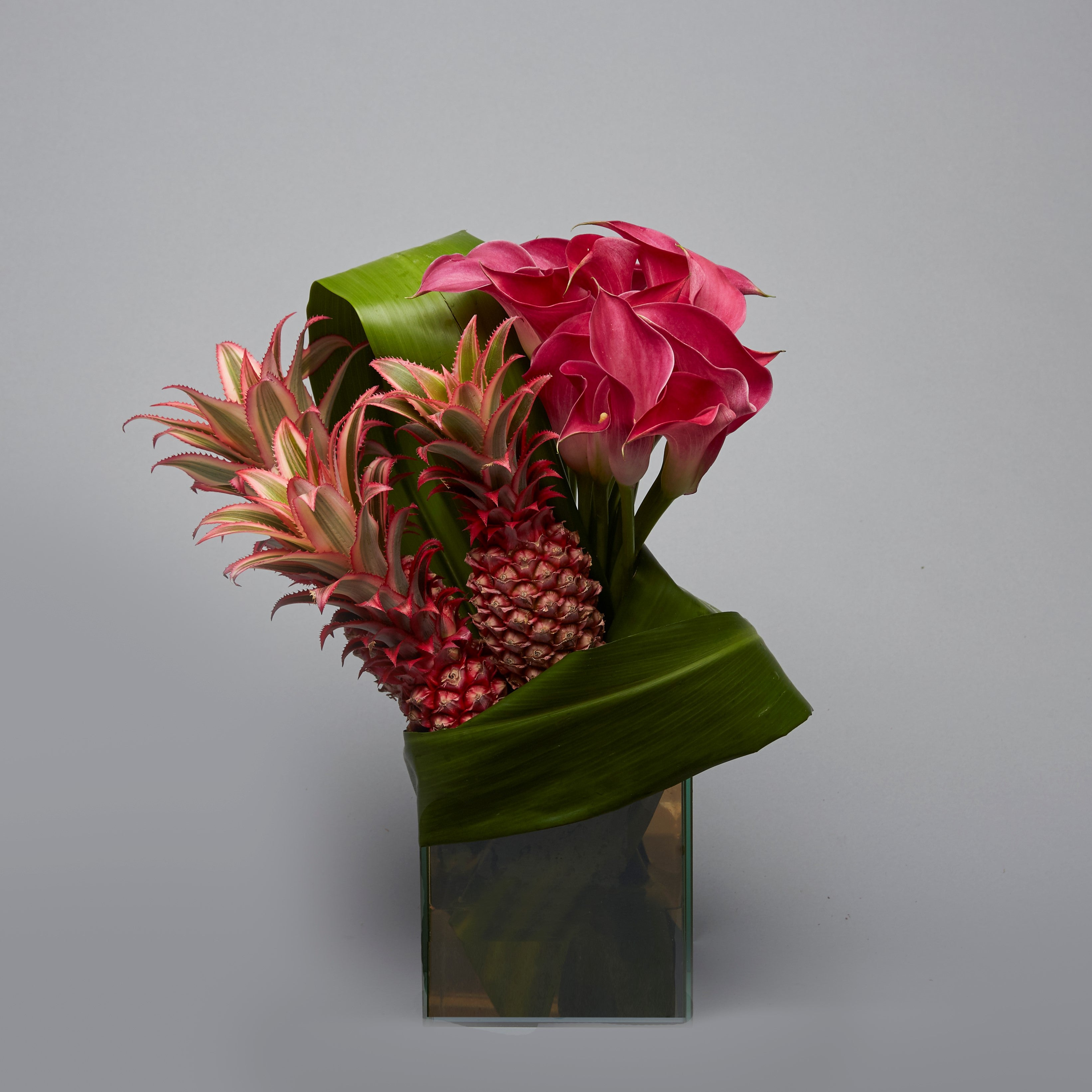 Ornamental Pineapple and Calla