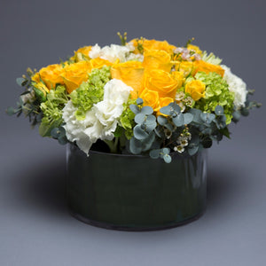 Yellow Mixed Centerpiece