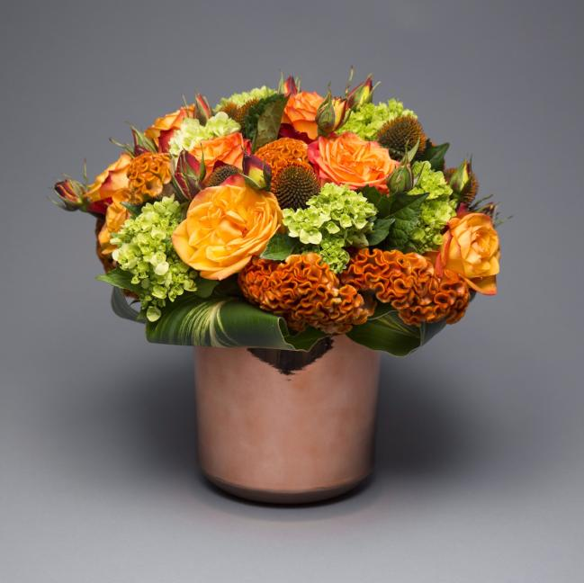 Full Bouquet in Cooper Pot