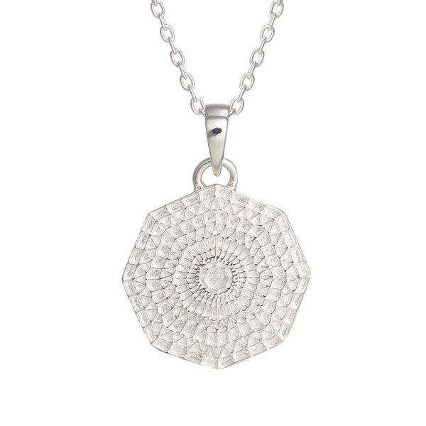 Puck Wanderlust_Silver Sun Mandala Pendant Cable Chain_Crop