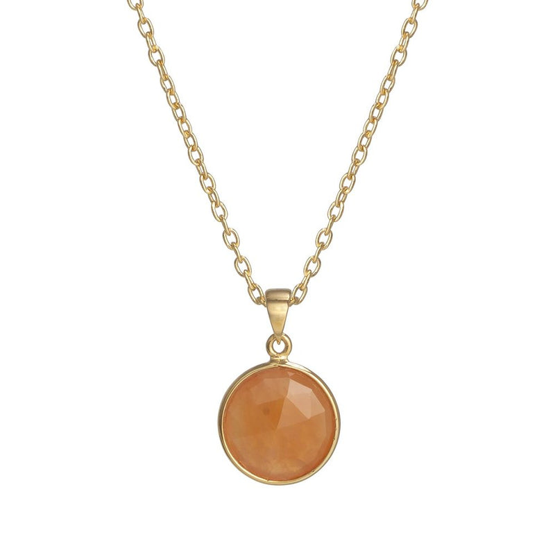 Puck-Wanderlust-Gold-Carnelian-Birthstone-Charm-Necklace-Cable-Chain-Crop