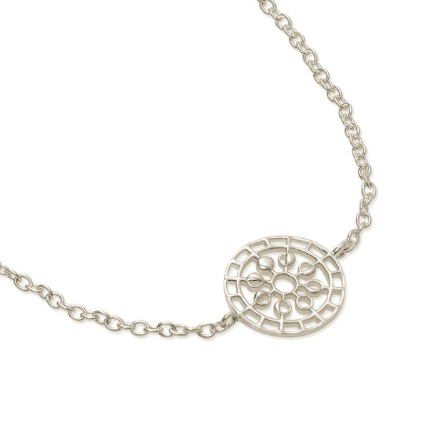 Puck Wanderlust_Moon Mandala Bracelet_Silver_White Background
