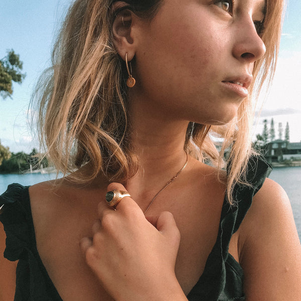 PUCK WANDERLUST_CENTRAL JEWEL CHARM_20MM EMPRESS HOOP_LIFESTYLE