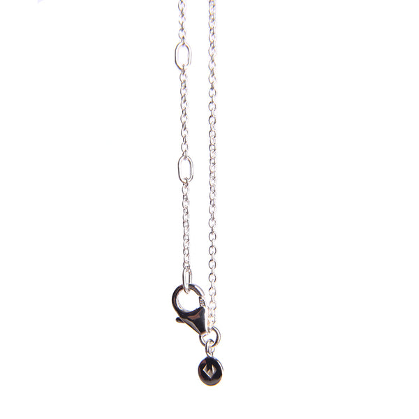 Adjustable Fine Chain Necklace Silver