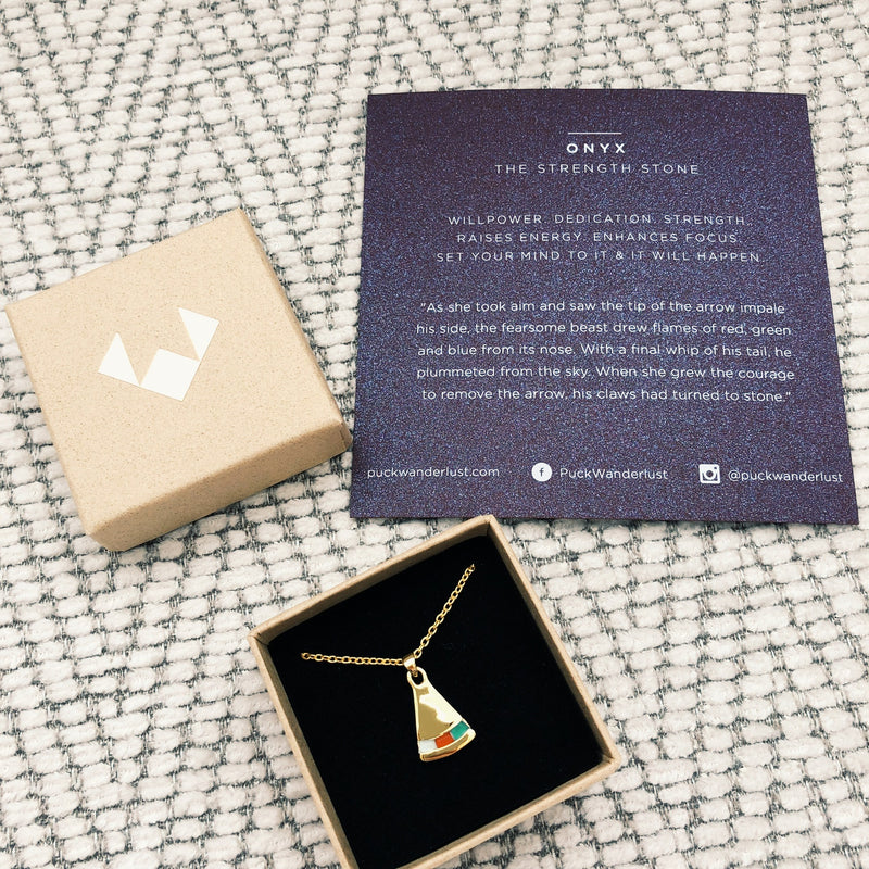 PUCK WANDERLUST_ONYX DECO PENDANT_PACKAGING
