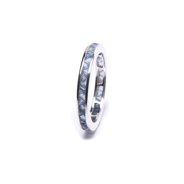 Puck Wanderlust_Silver Blue Chalcedony Eternity Ring__White Background