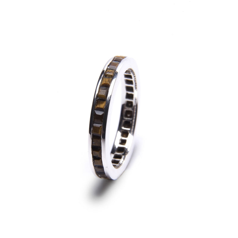 Puck Wanderlust_Silver Tigers Eye Eternity Ring__White Background