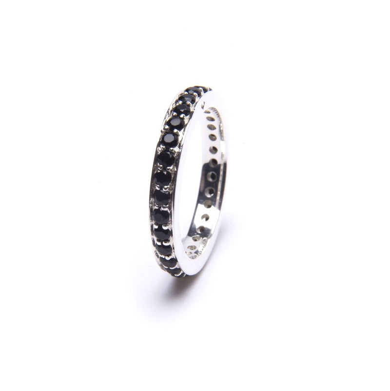 Puck Wanderlust_Silver Black Onyx Eternity Ring__White Background
