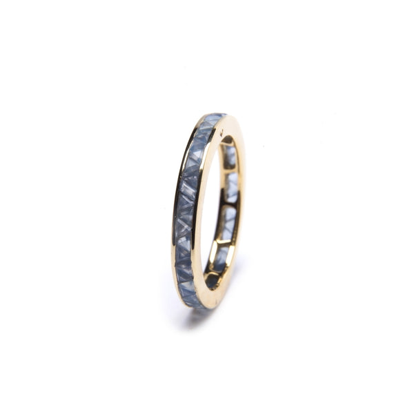 Puck Wanderlust_Gold Blue Chalcedony Eternity Ring__White Background