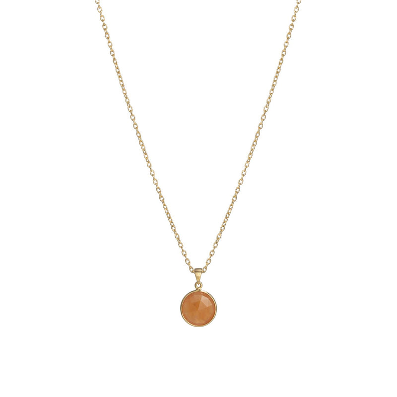 Puck-Wanderlust-Gold-Carnelian-Birthstone-Charm-Necklace-Cable-Chain