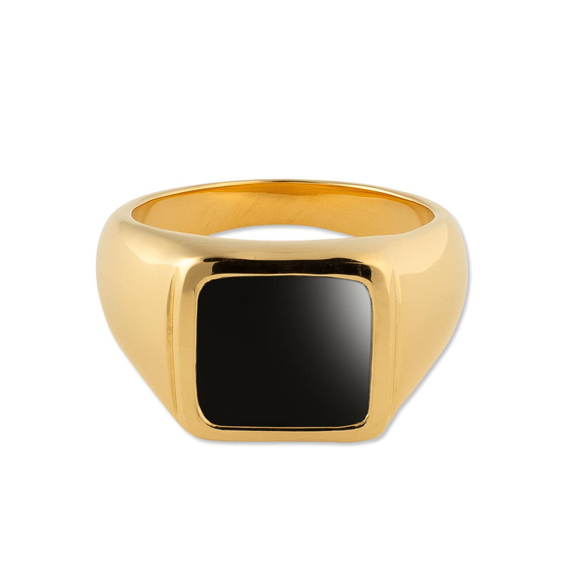 Puck-Wanderlust-Gold-Classic-Black-Onyx-Signet-Ring-Front